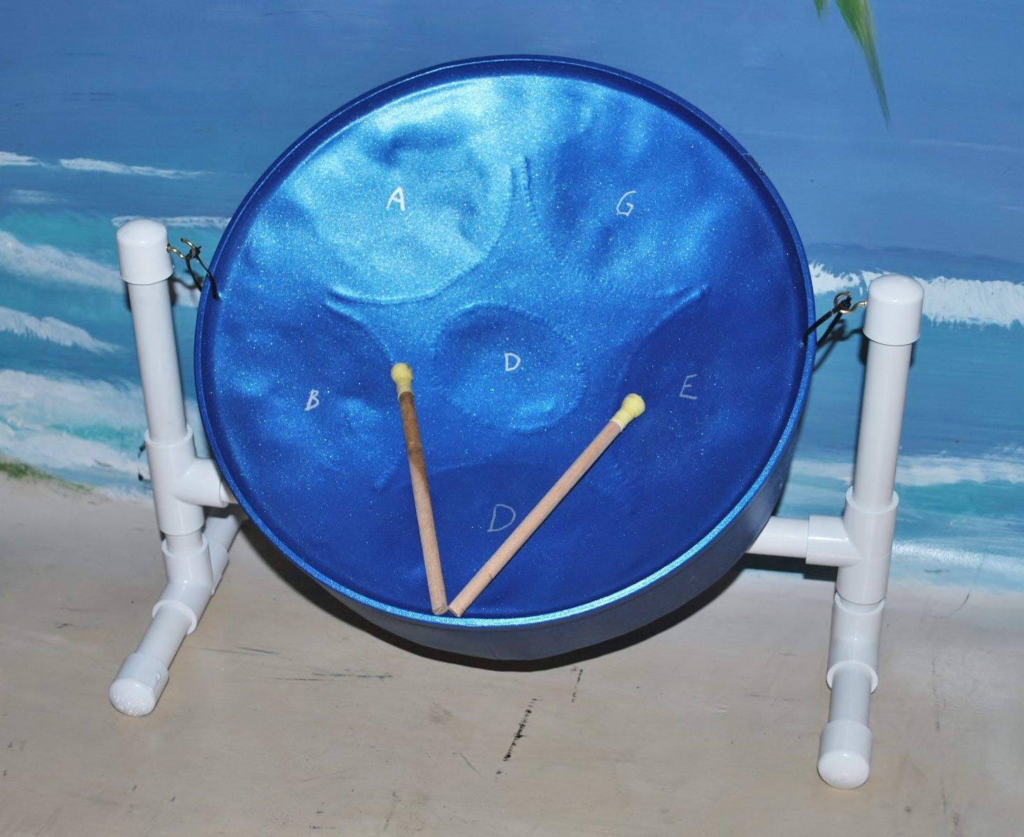 """Steel Drum Source"" Mini Meditation Steel Drum with Sticks & Stand"