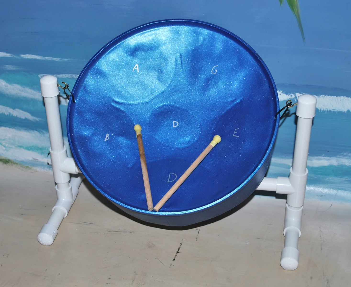 ''Steel Drum Source'' Mini Meditation Steel Drum with Sticks & Stand