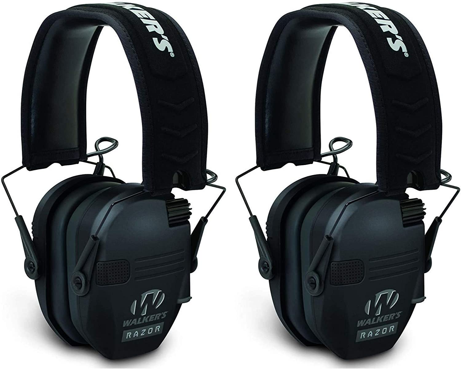 2 Pack Walkers GWPRSEMPAT Razor Patriot Electronic Earmuff 23 dB Black