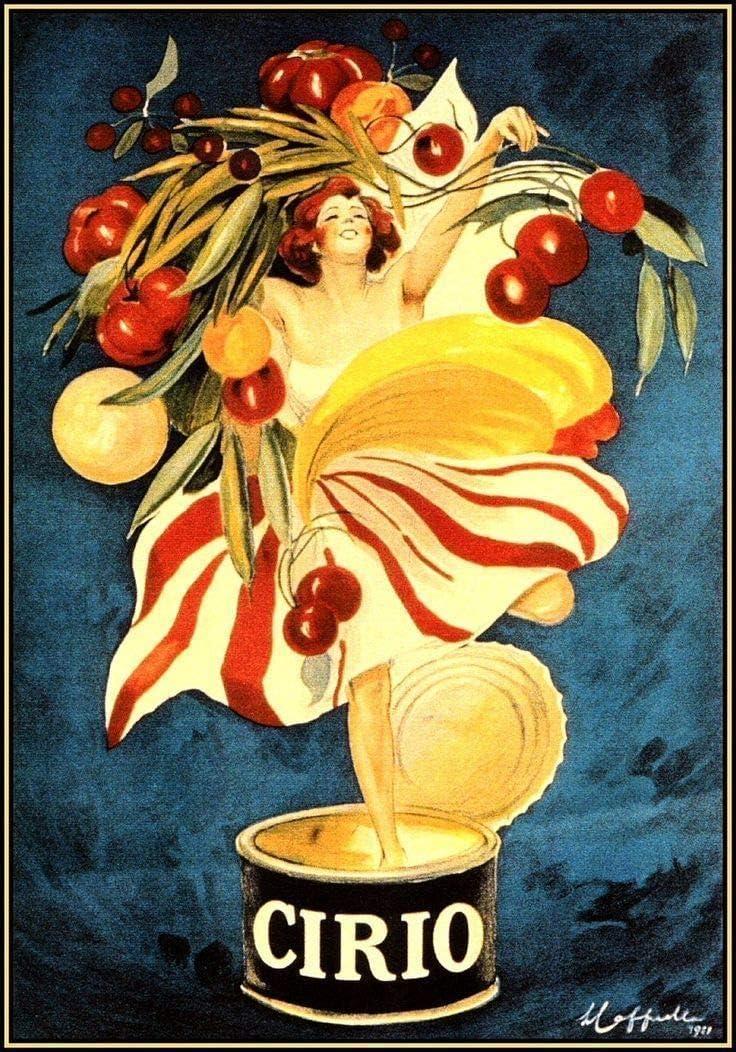TammieLove Cirio Foods - Cartel de Metal con Texto en inglés Vintage Italian Advertising, 20 x 30 cm: Amazon.es: Hogar