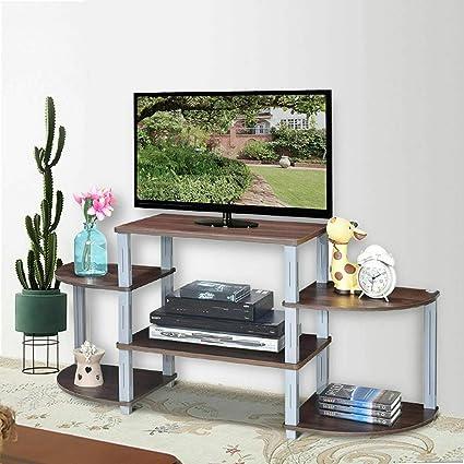 Amazon Com Lunanice Home Brown Tv Stand Multipurpose Entertainment
