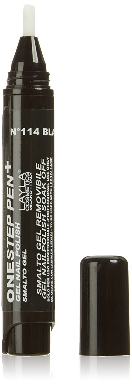 Layla Cosmetics One Step, penna gel smalto per unghie, Black AS Coal, pacco da 1 (1 X 5 ml) 1617R25-114