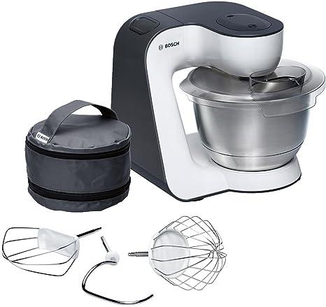 Bosch MUM54A00 900W 3.9L Negro, Plata, Color blanco - Robot de cocina (