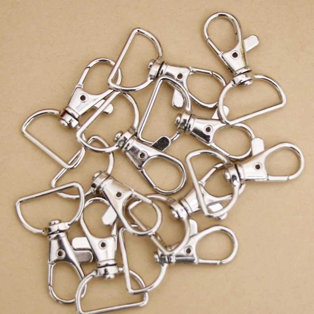 Lobster Claw Clasp Clips UTENEW 50 Pack Metal Swivel Clasp Small Lanyard Snap Hooks