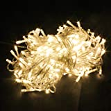 PMS 100 LED 12M Warm White String Fairy Lights On Clear Cable with 8 Light Effects, Ideal for Christmas, Xmas, Party,Wedding,ETC