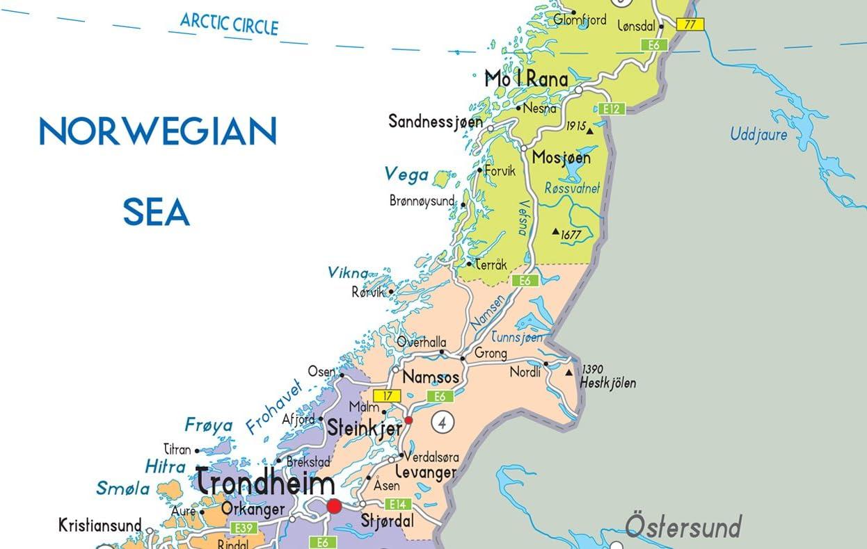 Cartina Politica Norvegia.Mappa Politica Della Norvegia Carta Laminata Ga A2 Clear Amazon It Cancelleria E Prodotti Per Ufficio