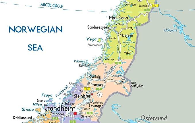 Cartina Norvegia Politica.Mappa Politica Della Norvegia Carta Laminata Ga A2 Clear Amazon It Cancelleria E Prodotti Per Ufficio