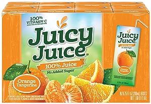 Juicy Juice Orange Tangerine Juice Single Serve Box, 54 Fluid Ounce -- 4 per case.