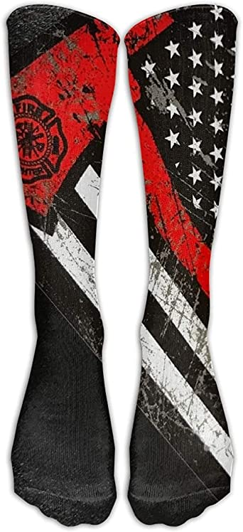 Red Line Firefighter Socks