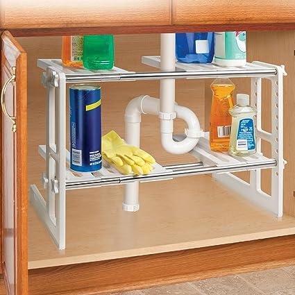 Amazon adjustable under sink storage shelf adjustable under sink storage shelf workwithnaturefo