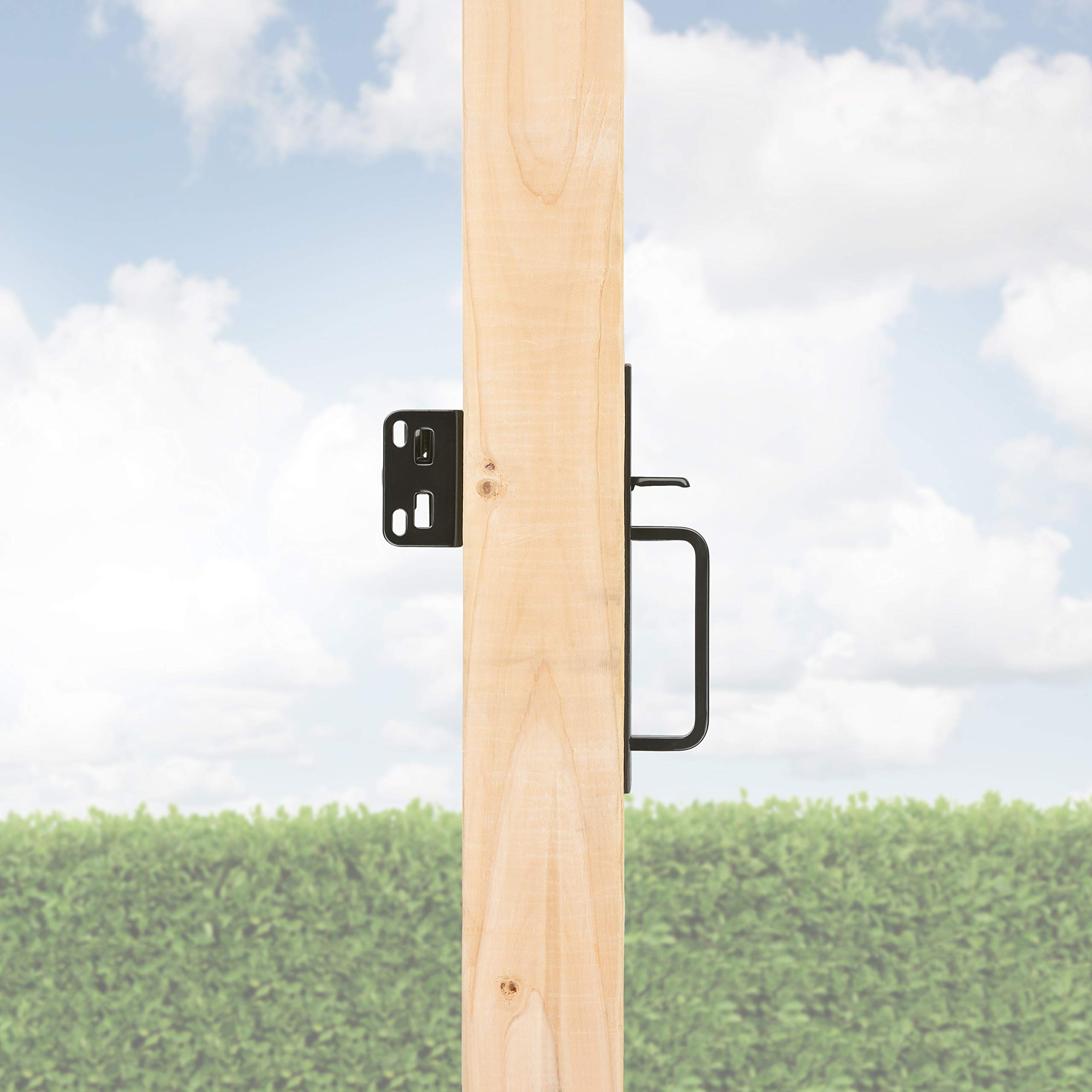 Gate Thumb Latch N109-050 by National Hardware in Black by National Hardware (Image #7)