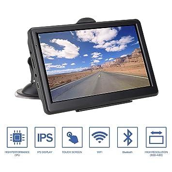 GPS Navigation para Coche, 8GB Pantalla Táctil de 7 Pulgadas con Bluetooth y actualizaciones de mapas de por vida- Negro: Amazon.es: Electrónica