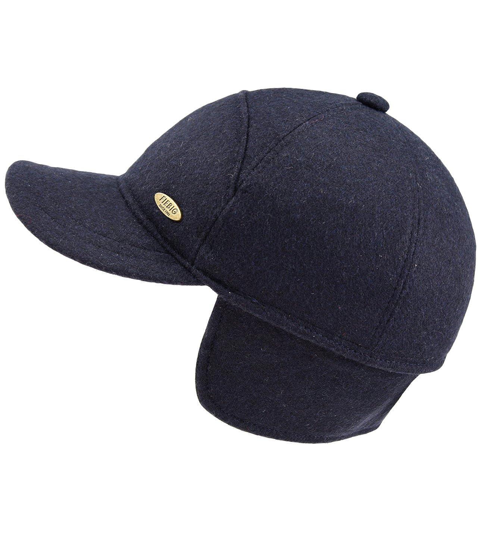 EveryHead Fiebig Herrenbasecap Basecap Baseballcap Cap Schirmmü tze Wintermü tze Wintercap Uni gefü ttert mit Ohrenklappen fü r Mä nner (FI-42530-W16-HE2) inkl Hutfibel