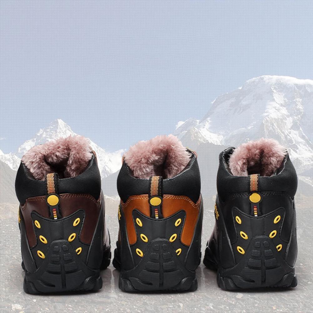 Joylora Herren Draussen Klettern Klettern Klettern Schuhe Schwacher Anstieg Wasserdicht und Rutschfest Leder Schnüren Warm halten Leicht Dauerhaft Stiefel zum Winter Laufen Reisen Trekking Wandern f6fab1
