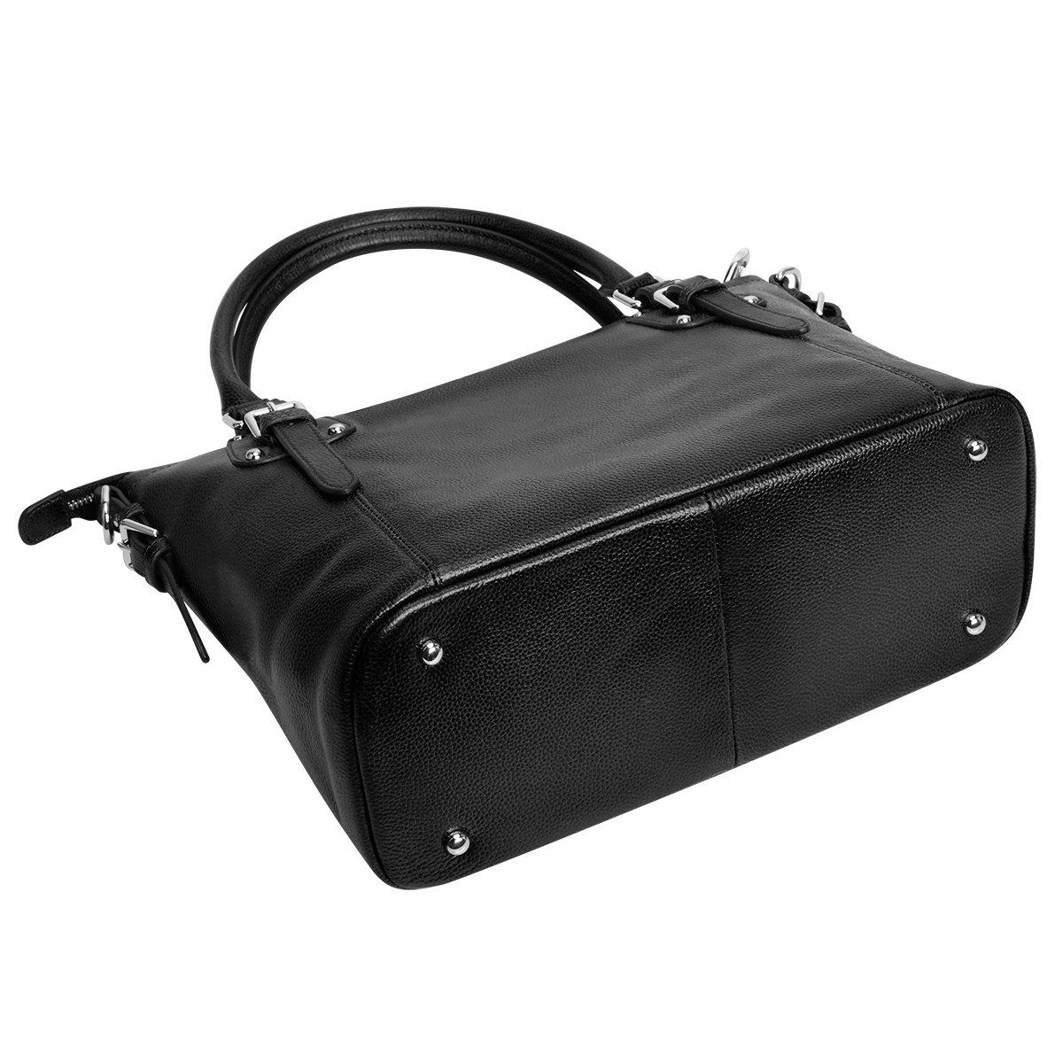 S-ZONE Geschenk der Mutter Tages Damen Classic Leather Tote Hobosund Schultertasche B-Braun