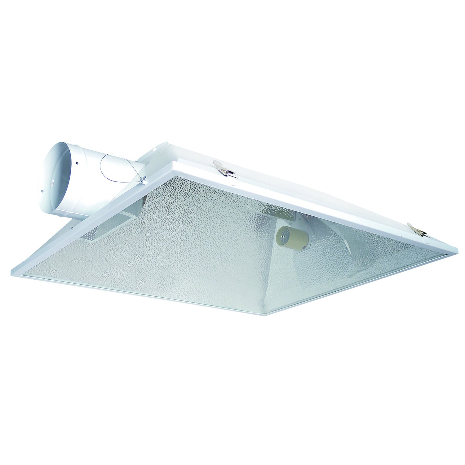 Hydro Crunch 8-Inch Extra Large Air Cooled Grow Light Reflector with 8'' Duct & Glass Panel