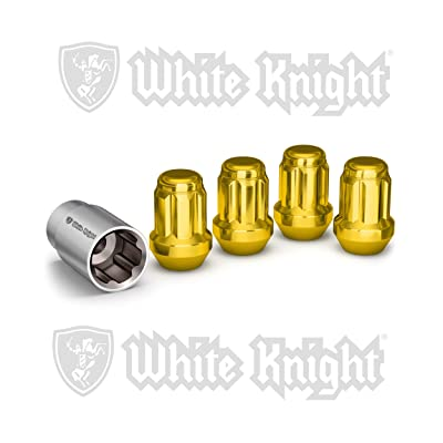 White Knight 40400SGDT Gold Wheel Lock, 4 Pack: Automotive