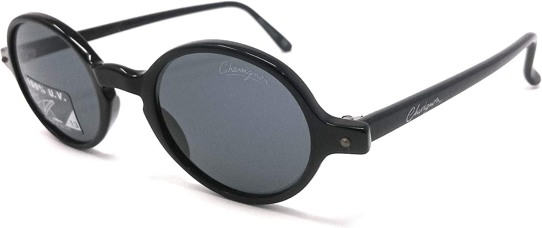 Chevignon Roundes - Gafas de sol para hombre y mujer, color negro 0600 vintage