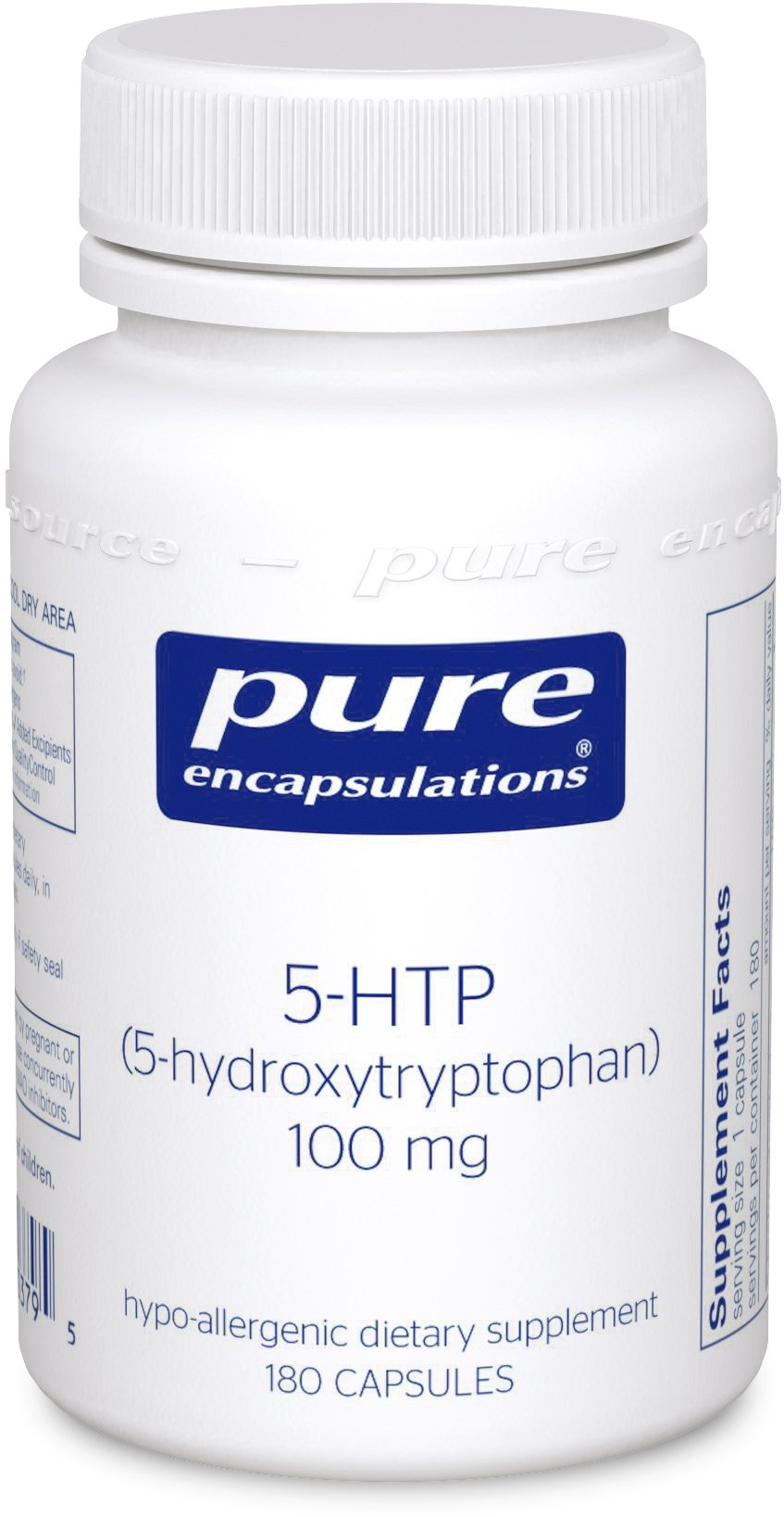 Pure Encapsulations - 5-HTP (5-Hydroxytryptophan) 100 mg - Hypoallergenic Dietary Supplement to Promote Serotonin Synthesis* - 180 Capsules