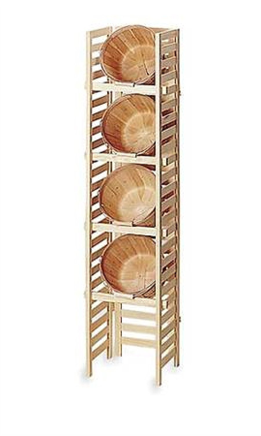 Towel Holder Storage Basket Rack Four Tier Peck Pine Wood Shelves Bathroom Spa Store Display Merchandising by SSW (Image #1)