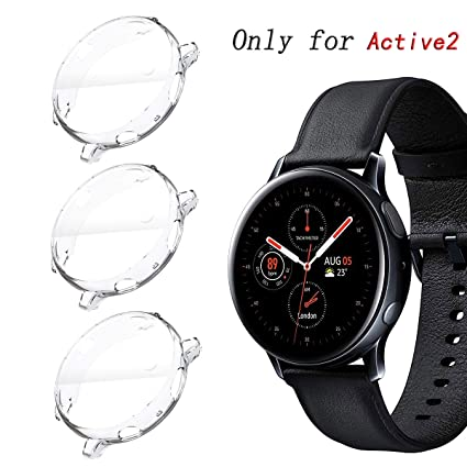 KPYJA for Samsung Galaxy Watch Active 2 40mm Screen Protector, All-Around TPU Anti-Scratch Flexible Case Soft Protective Bumper Cover for Galaxy Watch ...