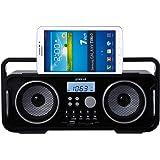 Groov-e Wireless Bluetooth Portable Retro Speaker System - Black