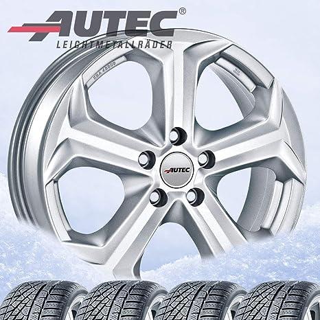 4 Invierno ruedas autec Xenos 7 x 17 ET49 5 X 114,3 Brillant Plata