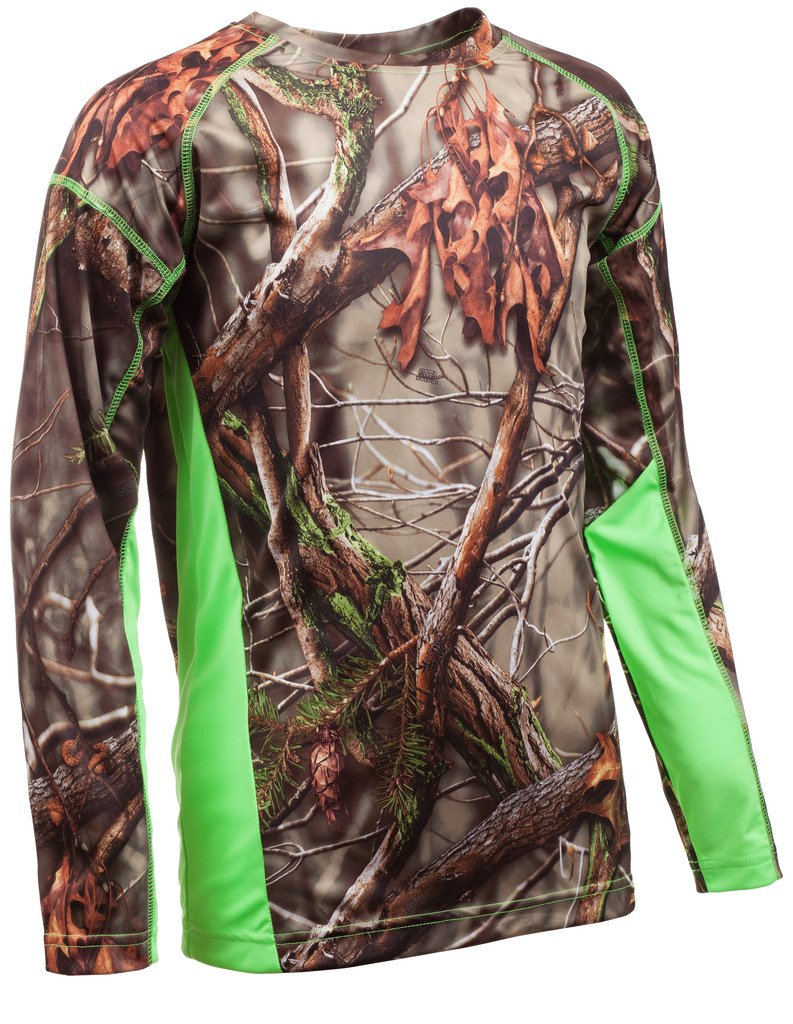 Huntworth Boys Long Sleeve Shirt, Oak Tree EVO,Large