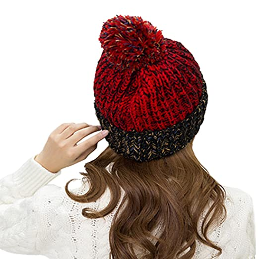 Gestrickte Hüte für Frauen - YOPINDO Damen Mädchen Winter Pom Pom ...
