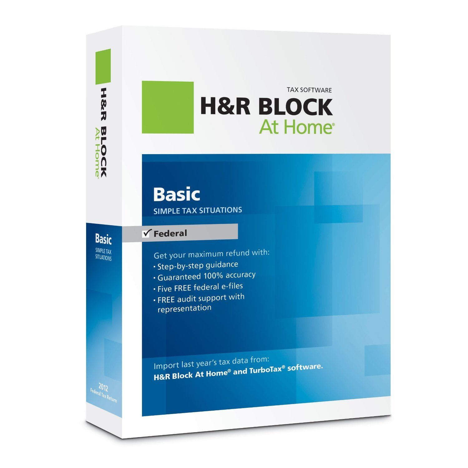 H&R Block At Home 2012 Basic (Old Version) Block Financial 1033600-12