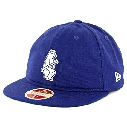 4572d49df50 ... hot new era 5950 chicago cubs vintage wool classic fitted hat royal  mens cap 54df9 1b068
