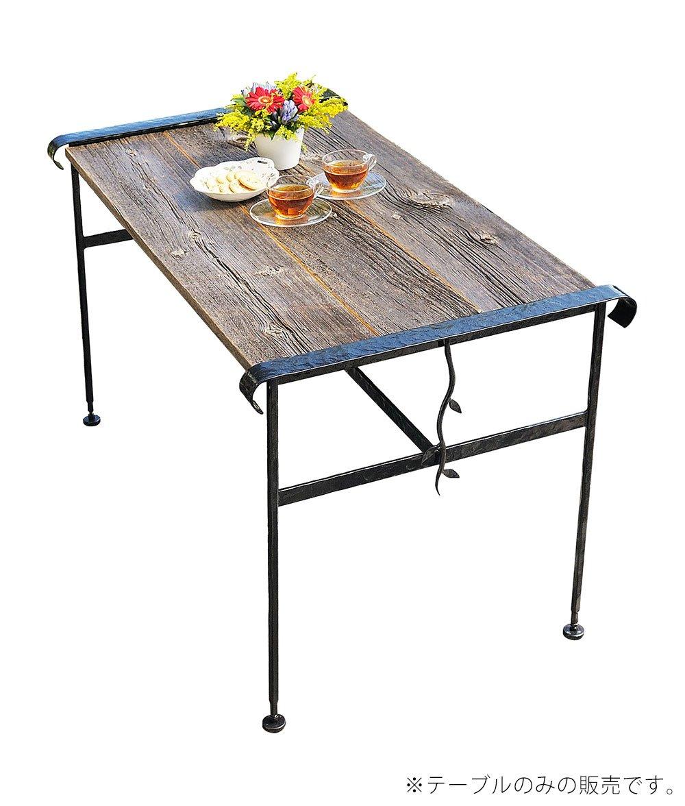 ガーデンファニチャー アイアン&バーンウッド テーブル B00RFNF3FW