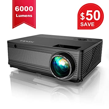 Amazon.com: YABER Native 1080P Projector 6000 Lux Upgrad ...