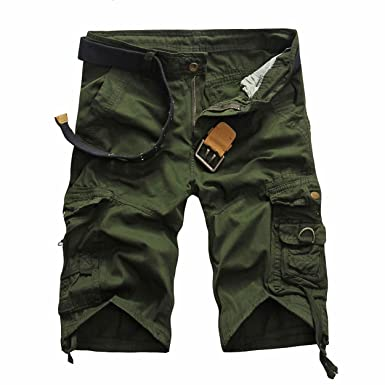 dece095dd2 LANMWORN Men's Multi-Pockets Casual Military Camouflage Cargo Shorts Pants,Summer  Cotton Loose Outdoor