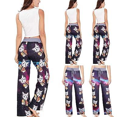Pantalones Cortos Mango, Mujer El Verano Impreso Cómodo ...