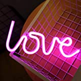 Love Neon Signs for Wall Decor,USB or Battery Decorative Neon Lights, LED Signs for Bedroom,LED Neon Light Neon Sign…