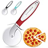 SCHVUBENR Premium Pizza Cutter - Stainless Steel Pizza Cutter Wheel - Easy to Cut and Clean - Super Sharp Pizza Slicer - Dish