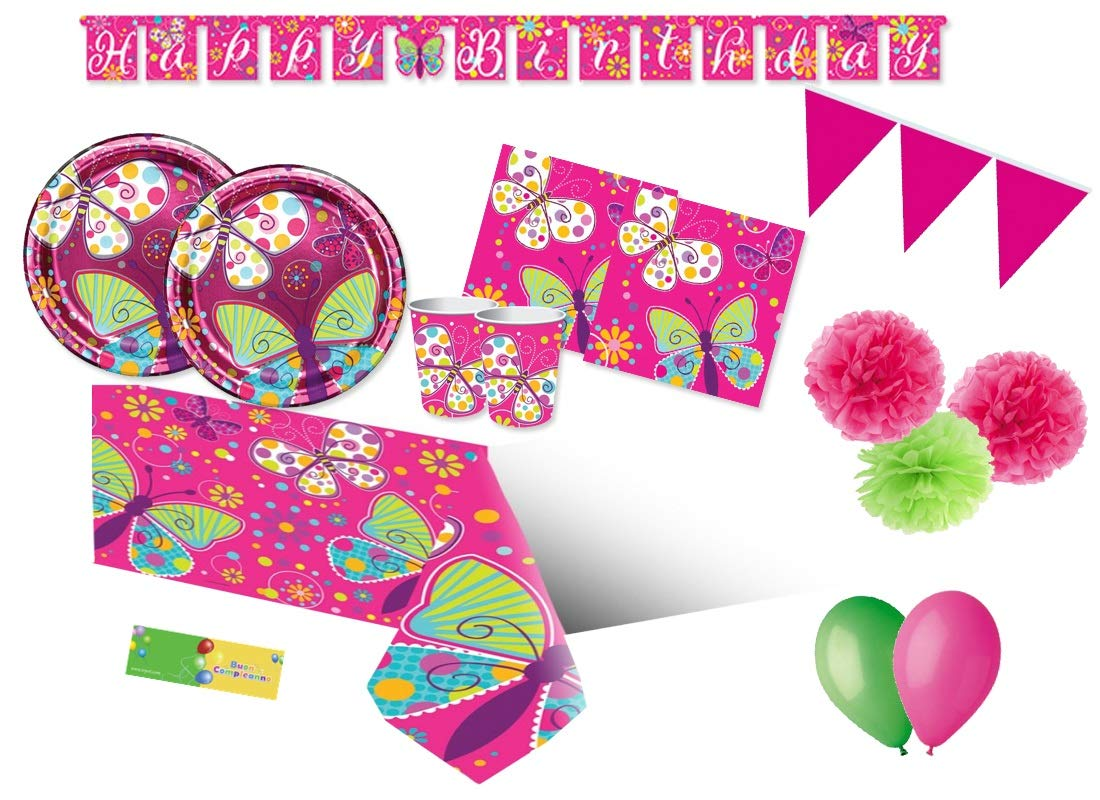 Creative Converdeing Kit n 46 Coordinato compleanno Farfalle addobbi festa butterfly