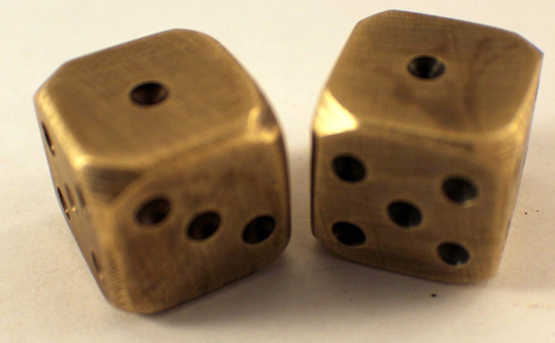 Amazon Com Solid Brass Pair Dice Antique Finish Toys Games
