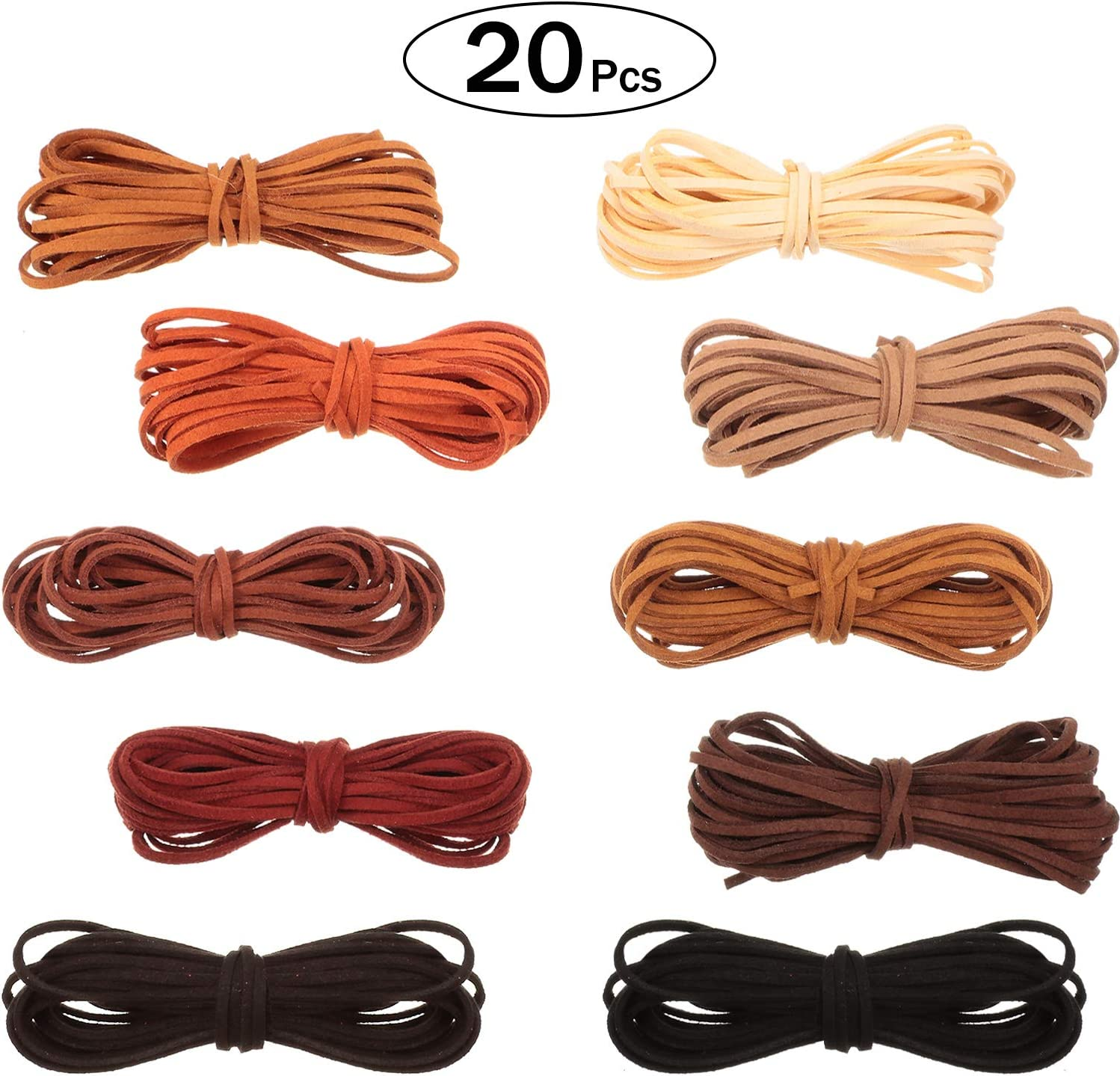 Color - A ToBeIT 100 Yard Micro-Fiber Flat Leather Beading Thread Faux Suede Cord String for Bracelet Necklace DIY Beading Jewelry Making Arts Crafts