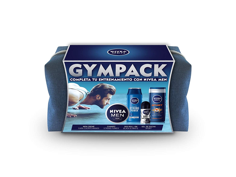 NIVEA MEN Neceser Gimnasio Gympack, neceser de regalo con gel de ...