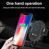 ELOVE 2 in 1 Car Mount Phone Holder with Qi Standard Wireless Fast Charging Technology [360° Rotation Universal Cell Phone Cradle] [ Quick Easy One Touch Technology] for All Qi Enabled Devices