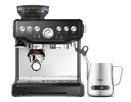 SAGE SES875 the Barista Express, Cafetera espresso, Cappuccinatore, 15 Bar, negro