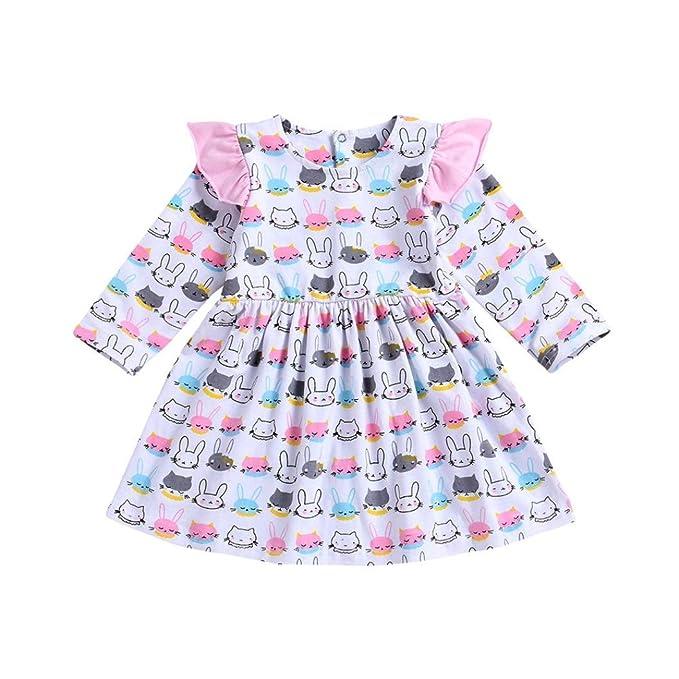 380ffd8c3f18 Amazon.com  Memela 2018 New Fall Baby Girls Dresses