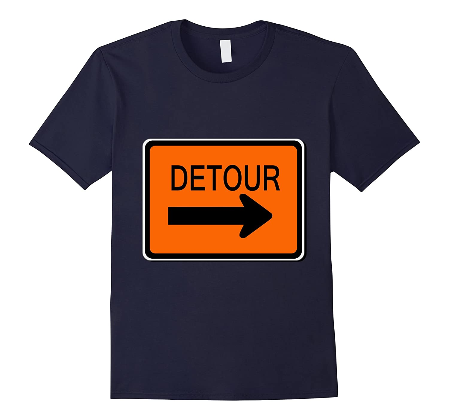Detour Sign Simple Easy Halloween Costume T-Shirt-ANZ