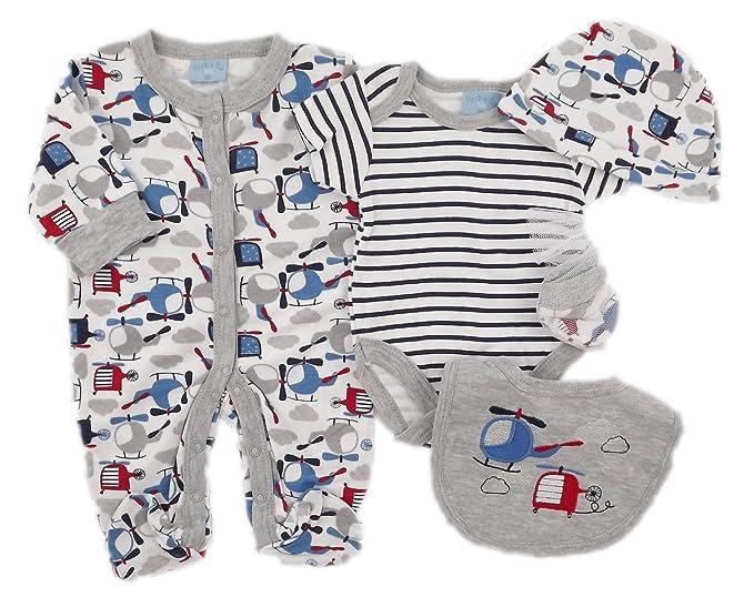 Rock a bye baby - Pelele para dormir - para bebé niño gris / blanco 3-6 Meses : Amazon.es: Ropa y accesorios