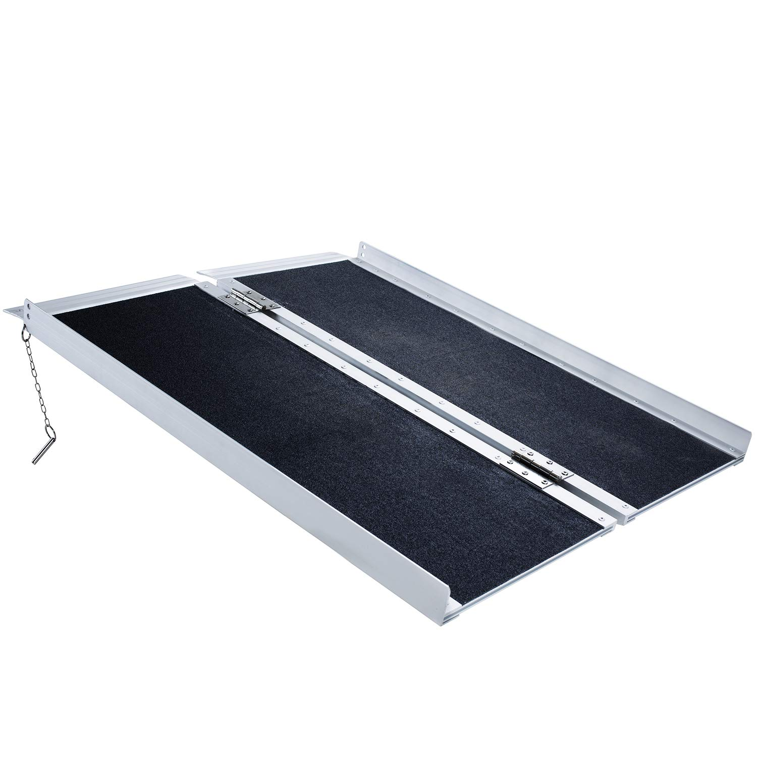 Wheelchair Ramp 3'',Ramps for Wheelchair,Portable Aluminum Ramp,Wheelchair Scooter Threshold Ramp,Lightweight Folding Loading Traction Ramp,Slip Resistant Briefcase,Holds up to 600 lbs,Carrying Handle by Forfar