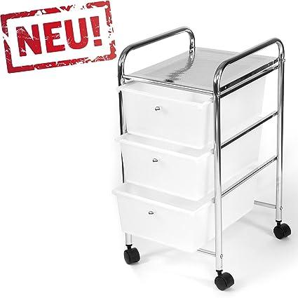 rollbares baño estante estantería de cocina badtrolley rollwagen cajón cajonera con ruedas de carro Metal Cromado