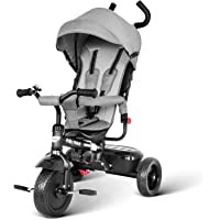 besrey Triciclo Bebé, Triciclo Evolutivo 4 En 1 Trike Bicicleta para Bebe Nino (1-6 año) con Mango y Cubierta de Lluvia…