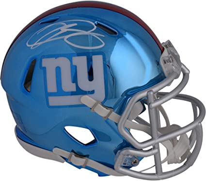 Image Unavailable. Image not available for. Color  Odell Beckham Jr. New  York Giants Autographed Riddell Chrome Alternate Speed Mini Helmet -  Fanatics 9dbb244f0